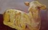 Kuchenlamm / Öl auf MDF / 82x130 / 2004