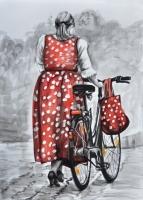 Helga Gasser_polka-dots1_tuscheaqarellfarbepapier_25x18cm_2014