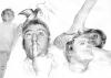 Fang das Licht I - 2 / Bleistift und Tusche auf Papier / 50x70cm / 2008