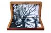 Gasser / Holzkästchen als Transportbox für 12 kleine Leinwände / 2012